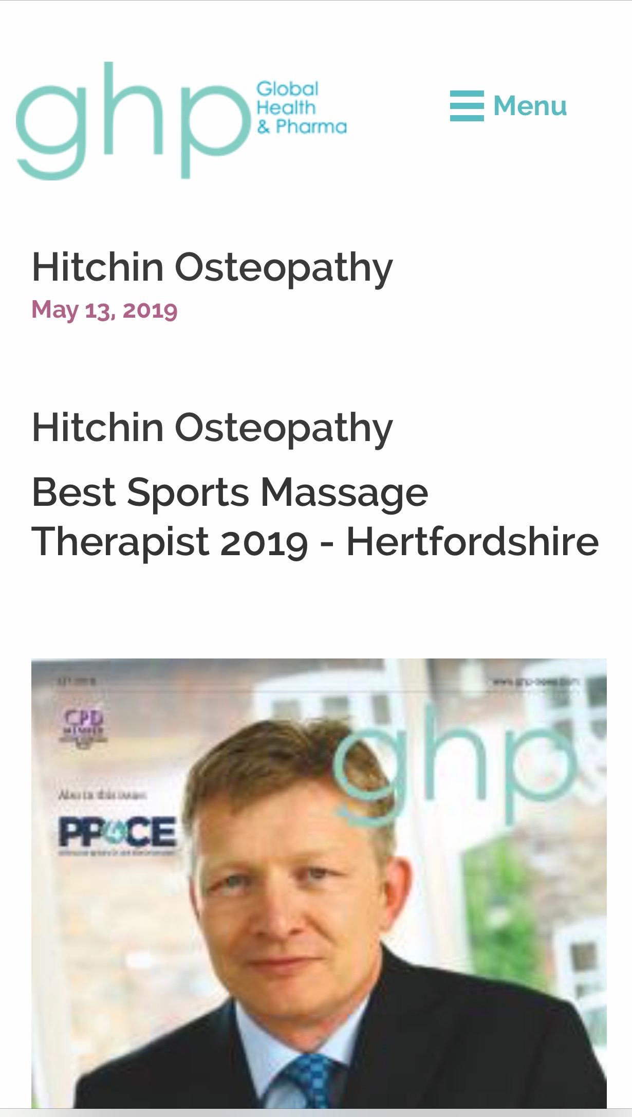 best sports massage hitchin